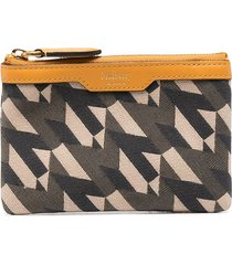 mulberry printed zip-up leather wallet - green