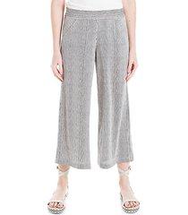 striped & dot-print wide-leg pants