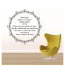 adesivo de parede mandala com frase 3 - médio