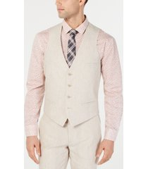 bar iii men's slim-fit linen suit vest, created for macy's