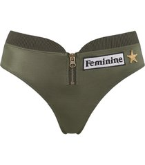aviator butterfly slip | military green - xs