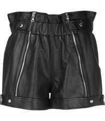 rta zipped louie shorts - black