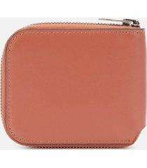 acne studios men's kei s compact zip wallet - almond brown