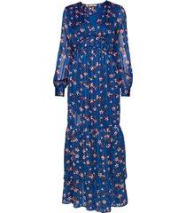 midi dress with piping details maxiklänning festklänning blå scotch & soda