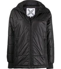 kenzo stitched puffer jacket - black