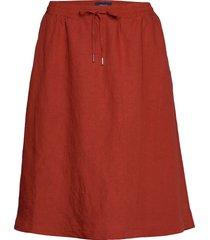 d2. summer linen skirt knälång kjol röd gant