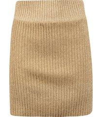 alberta ferretti ribbed knit skirt