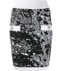 balmain fitted zip skirt - black
