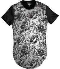 camiseta di nuevo longa casual florida vintage anos 80 preta - preto - masculino - poliã©ster - dafiti