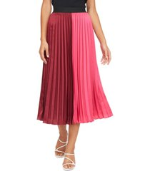 lucy paris frances pleated colorblocked skirt