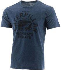 camiseta cat hombre gris ocura 2511307-mli