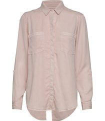 long and lean shirt långärmad skjorta rosa abercrombie & fitch