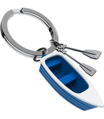 llaveros 3d bote, blue boat style europa mtm- azul