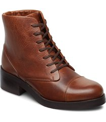 district lace up boot shoes boots ankle boots ankle boot - heel brun royal republiq