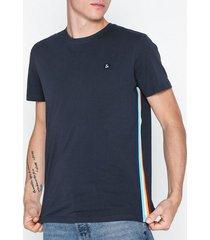 jack & jones jorarco tape tee ss crew neck t-shirts & linnen blå