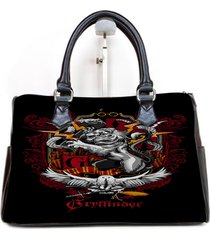 griffindor logo custom barrel type handbag