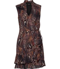 darley fusion dress kort klänning brun allsaints