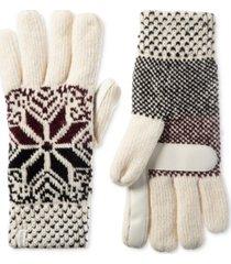 isotoner signature women's chenille snowflake gloves