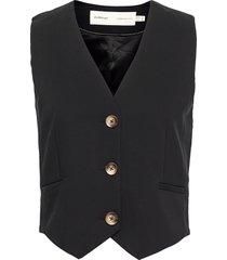 zellaiw waistcoat vests knitted vests svart inwear