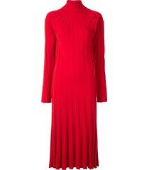 junya watanabe chunky ribbed knit dress - red