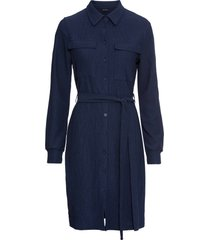 abito chemisier con cintura (blu) - bodyflirt