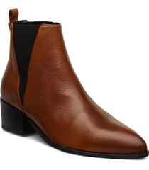 karen shoes boots ankle boots ankle boot - heel brun pavement