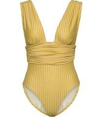rio baddräkt badkläder gul scampi
