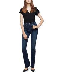 women's l'agence ruth high waist raw hem straight leg jeans