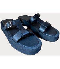 sandalia  negra india shoes mia