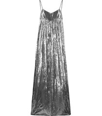 amen wide-leg metallic jumpsuit - silver
