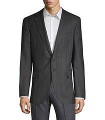 slim-fit striped wool sport coat