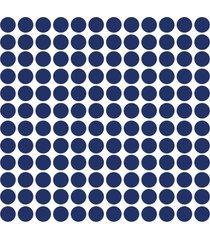 adesivo de parede bolinhas azul royal 144un - azul - dafiti
