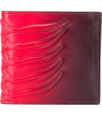 alexander mcqueen rib cage gradient wallet - red