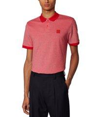 boss men's parlay 70 medium red polo shirt