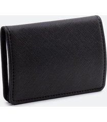 katy covered metal card case - black