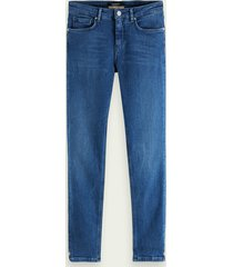 scotch & soda la bohemienne cropped - bright hours | stretch mid rise skinny fit jeans