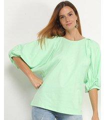 blusa colcci balonê 3/4 feminina