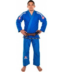 kimono jiu jitsu atama trançado mundial - azul