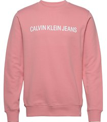institutional logo sweatshirt sweat-shirt trui roze calvin klein jeans