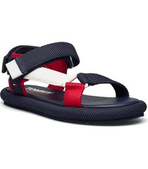 tommy jeans sporty sandal shoes summer shoes flat sandals blå tommy hilfiger