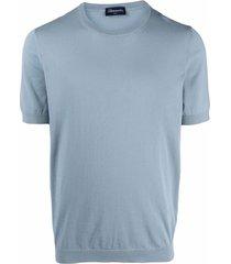 drumohr crew-neck fitted t-shirt