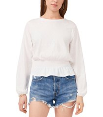 1.state cotton smocked top