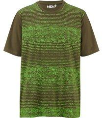 t-shirt men plus olivgrön::neongrön