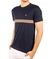 camiseta cinta a rayas azul oscuro ref. 107101119