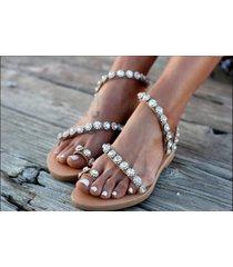 sandalias de mujer de estilo étnico con puntera.