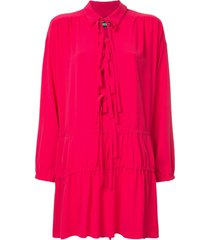 boutique moschino drop waist tunic with tie detail - pink