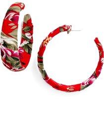 women's bp. floral wrapped hoop earrings