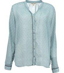 garcia blauwe polester blouse