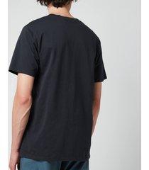 maison kitsuné double fox head patch classic t-shirt - anthracite - m