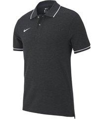 camiseta polo nike team club 19 - negro